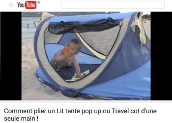 vignette video comment plier un lit bébé tente pop up